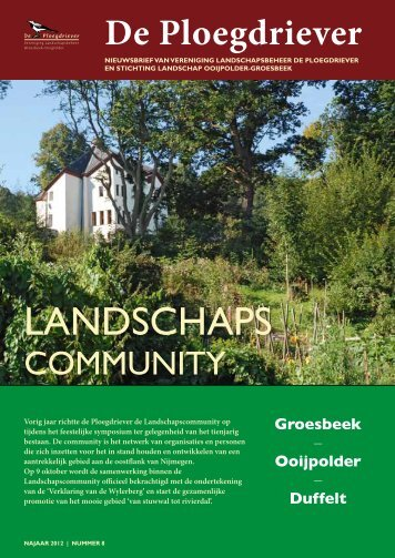 Nieuwsbrief 2012-8 - Stichting Landschap Ooijpolder-Groesbeek