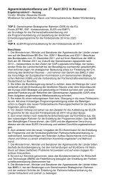 AMK: Agrarministerkonferenz am 27. 4. 2012
