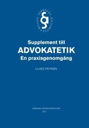 Supplement till Advokatetik - Advokatsamfundet
