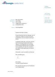 Brief Energie-Nederland aan informateurs