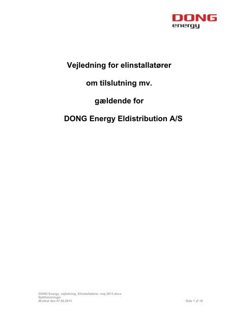 dong energy el priser