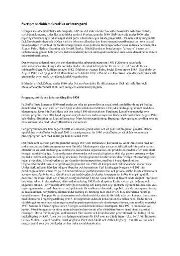 Sveriges socialdemokratiska arbetareparti - S-info