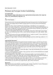 Kæde-enighed baner vej for Eurospar - EUROSPAR Presse