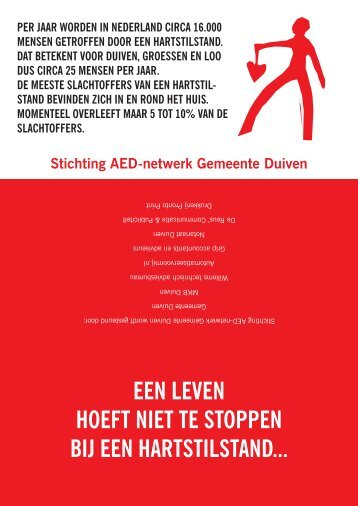 Flyer AED-netwerk Gemeente Duiven