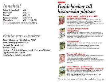 Guideböcker till historiska platser Innehåll Fakta ... - E-boksbiblioteket