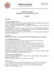 Referat 1. november 2010 - Hadsund Skole