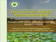 Effect of human urine application volume in Komatsuna growth