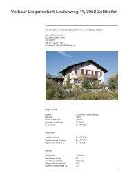 Verkauf Liegenschaft Lindenweg 12, 3052 Zollikofen Verkauf ...