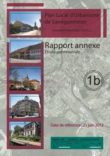 Rapport annexe - Ville de Sarreguemines
