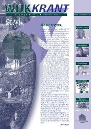 Jaargang 6 nr 3 oktober 2007 - Wijkraad Steyl