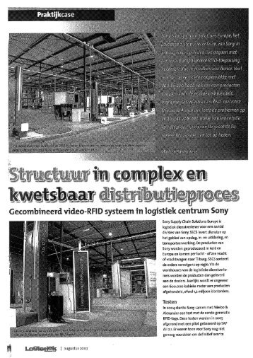 RFID systeem in logistiek centrum Sony - Fontys Mediatheek Portal