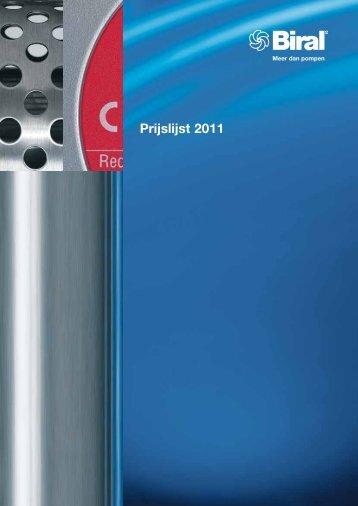 Prijslijst 2011 - Biral