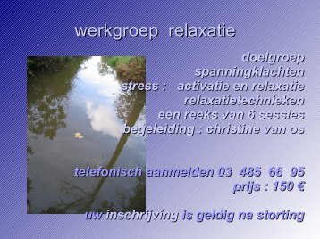 werkgroep relaxatie