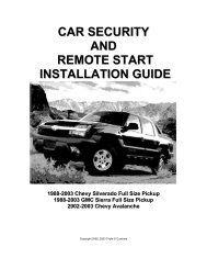 car security and remote start installation guide - Denali Trucks