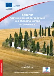 Anthropological perspectives in a changing Europe - European ...