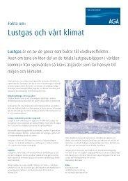 Broschyr Lustgas och vårt klimat (PDF 114 KB) - Linde Healthcare