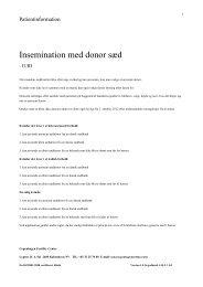 Insemination med donor sæd - Copenhagen Fertility Center