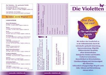 Unser Programm - Die Violetten