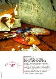 """Beckers""""A"""" – Den klassiske nordiske oliemaling for ... - Colart"""