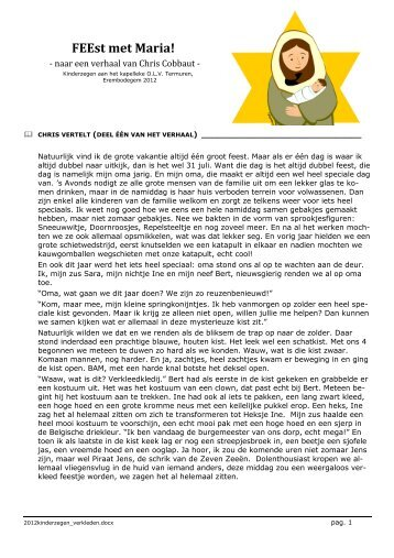 FEEst met Maria! (kinderzegen) (verhaal/viering) - KerKembodegem