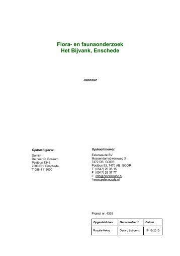 Bijlage 9 Ecologisch onderzoek - ruimtelijkeplannen.enschede.nl ...