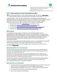 6.3.1 Vaccinationer inom barnhälsovården - Webbhotell SLL