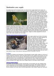 Nestkasten voor vogels 2008 - Ivn