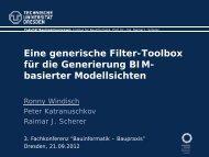Modellsicht - Bauinformatik - Baupraxis