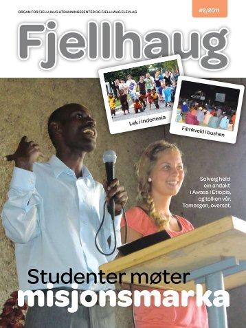 studenter møter - Fjellhaug Internasjonale Høgskole