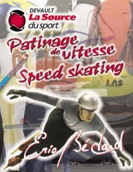 Nouveau catalogue disponible le 5 août 2007 - Sports Devault