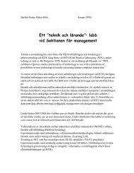 """Ett """"teknik och lärande""""– labb vid Sektionen för management"""