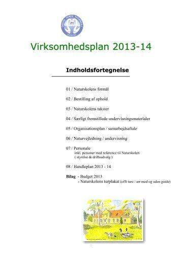 Naturskolens Virksomhedsplan - Odense Fjords Naturskole