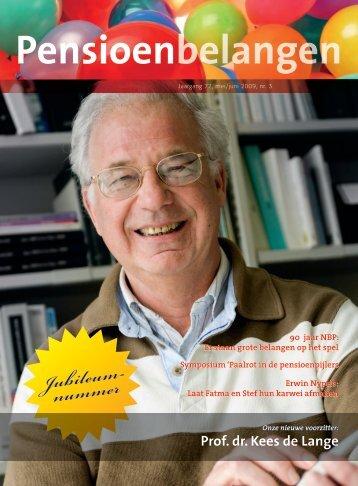 Jubileum- nummer - Nederlandse Bond voor Pensioenbelangen