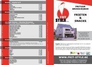 FRIETEN & SNACKS menukaart - Frit Style