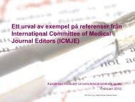 Ett urval av exempel på referenser från International Committee of ...