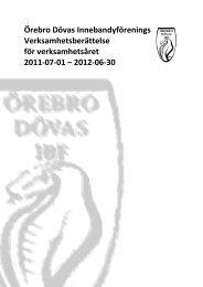 Verksamhetsberättelse 2011-2012 - odibf.se