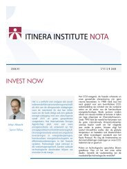 NOTA 81 invest now.indd - Itinera Institute