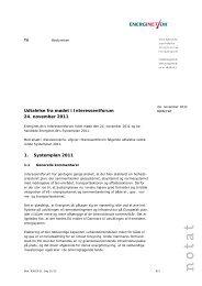 Udtalelse om systemplan 2011 - Energinet.dk