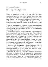 Rydberg och religionerna