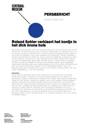 PERSBERICHT PERSBERICHT Roland Sohier verklaart het konijn ...