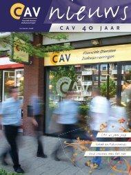 Nieuwsbrief CAV 40 jaar/ december 2008 - Stichting CAV