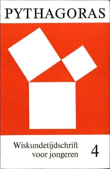 Inhoud eerste helft (pdf) - Pythagoras