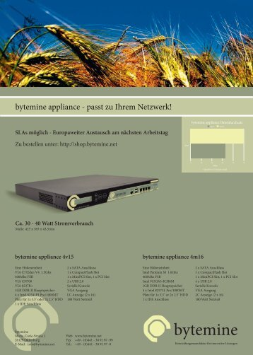 bytemine appliance - passt zu Ihrem Netzwerk!