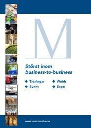 Broschyr om Mentor - Mentoronline.se