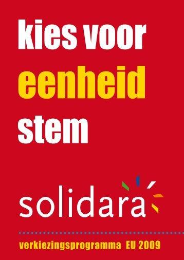 verkiezingsprogramma EU 2009 - Solidara