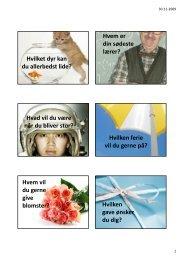 Hvilket dyr kan du allerbedst lide? Hvem er din ... - sjovskole.dk