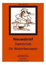 nieuwsbrief sept 2012.pdf - Waterleeuwen