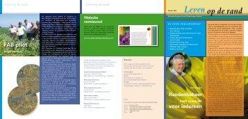 Nieuwsbrief juni 2010 - Project Actief Randenbeheer Brabant