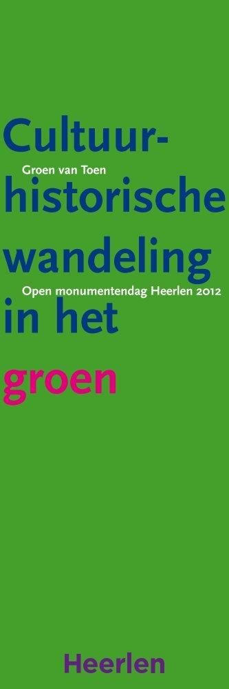 Bekijk hier de brochure 2012 - Open Monumentendag Heerlen