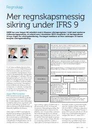 Mer regnskapsmessig sikring under IFRS 9